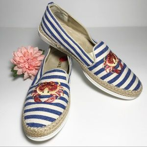 "Anne Klein Flex ""Zarenna"" Striped Espadrille Crab"